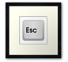 Keyboard Escape Key Framed Print