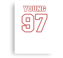 NFL Player Willie Young ninetyseven 97 Canvas Print