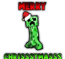Merry Chrissstmass Creeper - Minecraft Christmas T-Shirt by ItsImpulseYT