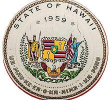 Vintage State Of Hawaii Badge by mrdoomits