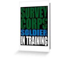 Survey Corps Soldier in Training Greeting Card