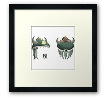 Glitch Hats Side-by-Side Lem mask Framed Print