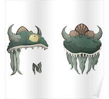 Glitch Hats Side-by-Side Lem mask Poster