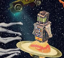 Robot in Space by Paula Morales