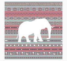 Elephant Aqua Coral Aztec Tribal Pattern Kids Clothes