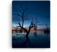 Sunset on the Lake - Menindee, NSW Canvas Print