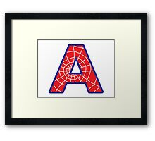 A letter in Spider-Man style Framed Print