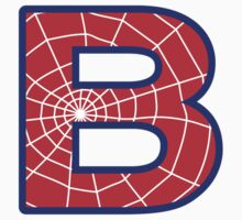 B letter in Spider-Man style Kids Clothes