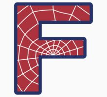 F letter in Spider-Man style Kids Clothes