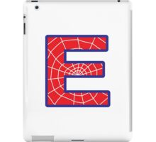 E letter in Spider-Man style iPad Case/Skin