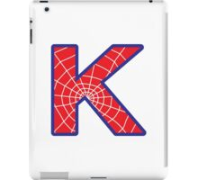 K letter in Spider-Man style iPad Case/Skin