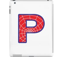 P letter in Spider-Man style iPad Case/Skin