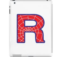R letter in Spider-Man style iPad Case/Skin