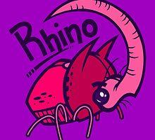 R is for Rhino by artdyslexia