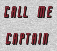 Call Me Captain: red version Kids Clothes