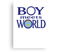 Boy meets world Canvas Print