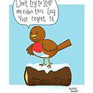 Puntastic robin by twisteddoodles
