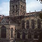Approach to Malvern Priory Great Malvern England 198405180055m by Fred Mitchell