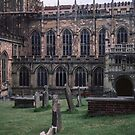 Graves at side of Malvern Priory Great Malvern England 198405180056m by Fred Mitchell