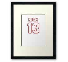 NFL Player Nick Williams thirteen 13 Framed Print