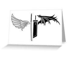 Final Fantasy VII - One Winged Angels Greeting Card