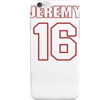 NFL Player Jeremy Johnson sixteen 16 iPhone Case/Skin