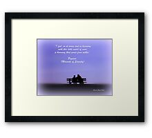Moments of Serenity Framed Print
