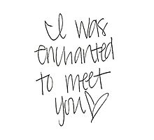 Enchanted To Meet You Photographic Print