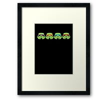 TEENAGE MUTANT NINJA TROOPERS (green) Framed Print