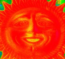 Sun ornament Sticker