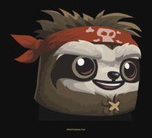 Glitch Masks Trimmed Sloth Mask by wetdryvac