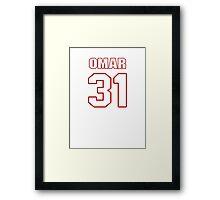 NFL Player Omar Bolden thirtyone 31 Framed Print