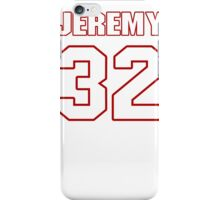 NFL Player Jeremy Hill thirtytwo 32 iPhone Case/Skin