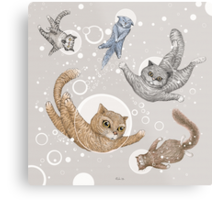Space Cats Metal Print