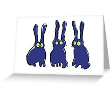 3 bunnies Greeting Card