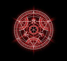 Human Transmutation Circle - Red by R-evolution GFX