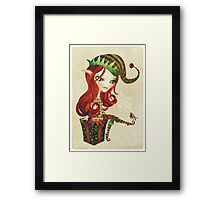 Elfie Elf Framed Print
