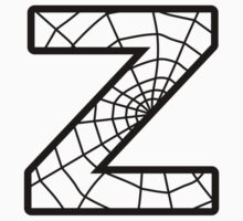 Spiderman Z letter by Stock Image Folio