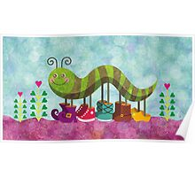Catty Caterpillar Poster