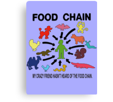 FOOD CHAIN Canvas Print