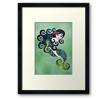 Aquamarine, the Teenage Mermaid Framed Print