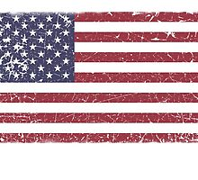 Vintage Look Stars and Stripes American Flag by VintageSpirit