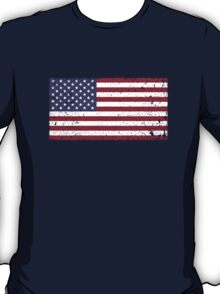 Vintage Look Stars and Stripes American Flag T-Shirt