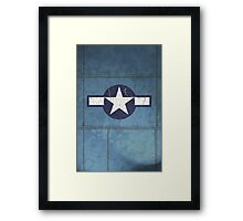 Vintage Look USAAF Roundel Graphic Framed Print