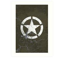 Vintage Look US Army White Star Emblem Art Print