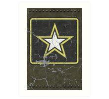 Vintage Look US Army Star Logo  Art Print
