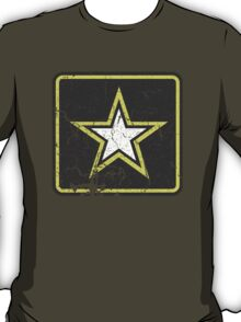 Vintage Look US Army Star Logo  T-Shirt