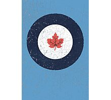 Vintage Look WW2 Royal Canadian Air Force Roundel Photographic Print
