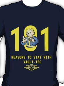 Vault Boy's 101 Reasons For Vault-Tec T-Shirt