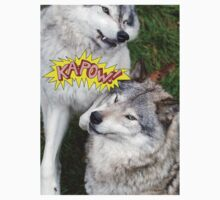 Wolves at play Kids Clothes